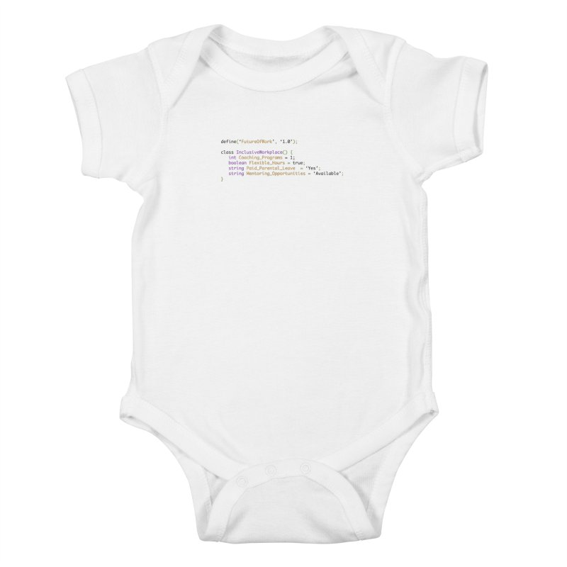 Future of work and inclusive workplace Kids Baby Bodysuit by Women in Technology Online Store