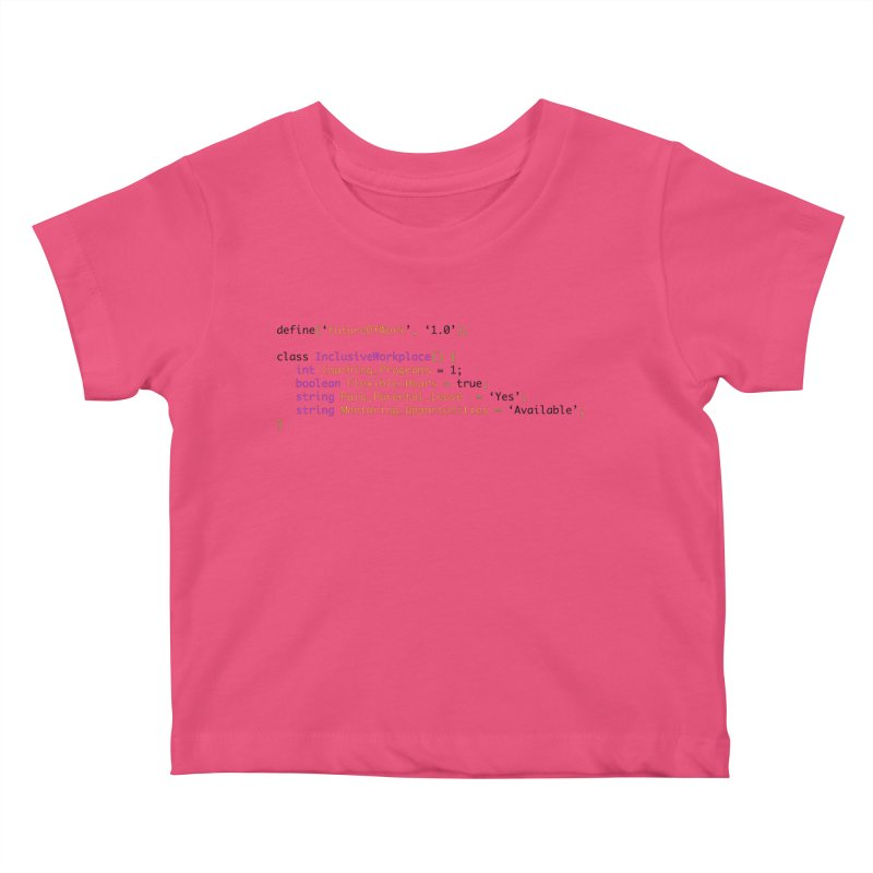 Future of work and inclusive workplace Kids Baby T-Shirt by Women in Technology Online Store