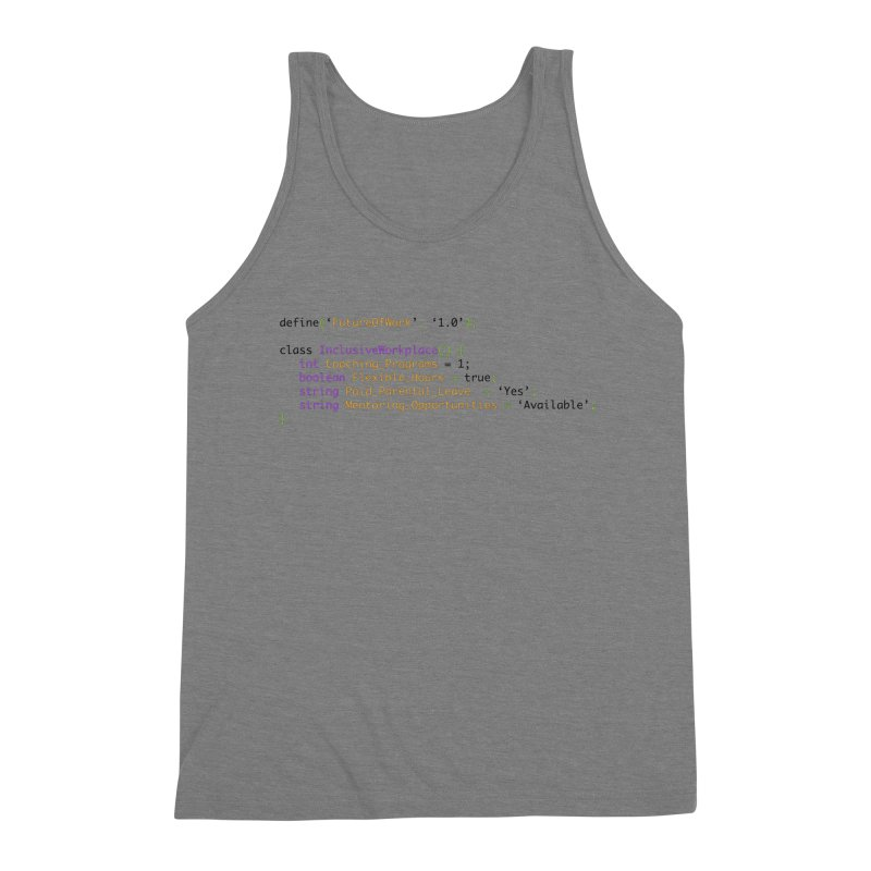 Future of work and inclusive workplace Men's Triblend Tank by Women in Technology Online Store