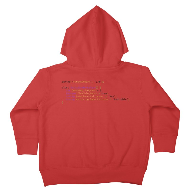 Future of work and inclusive workplace Kids Toddler Zip-Up Hoody by Women in Technology Online Store