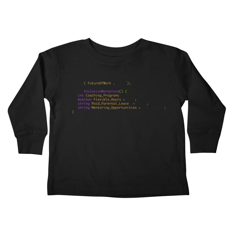 Future of work and inclusive workplace Kids Toddler Longsleeve T-Shirt by Women in Technology Online Store
