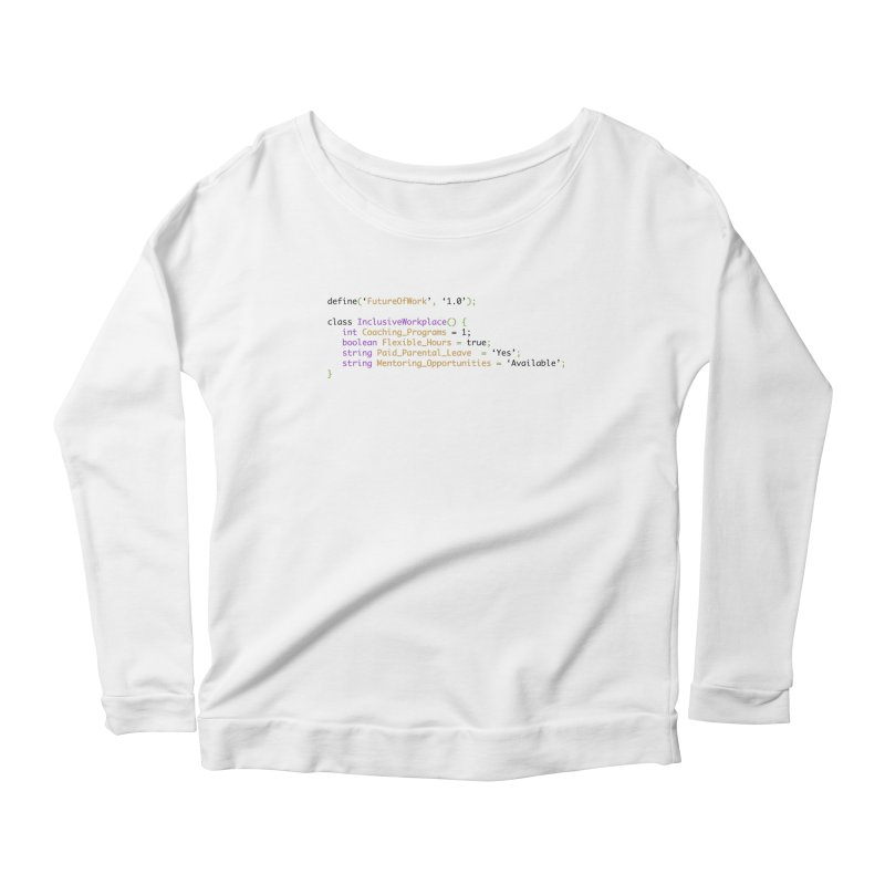 Future of work and inclusive workplace Women's Scoop Neck Longsleeve T-Shirt by Women in Technology Online Store