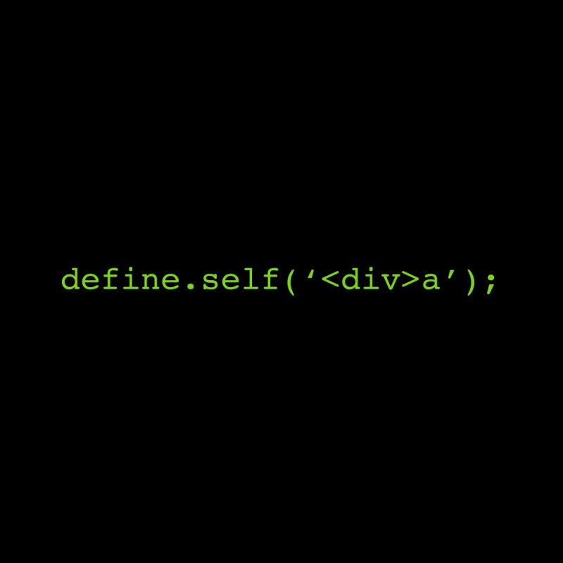 define.self('<div>a'); - A geeky diva Accessories Sticker by Women in Technology Online Store