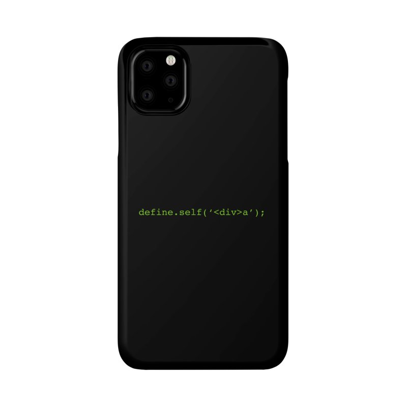 define.self('<div>a'); - A geeky diva Accessories Phone Case by Women in Technology Online Store