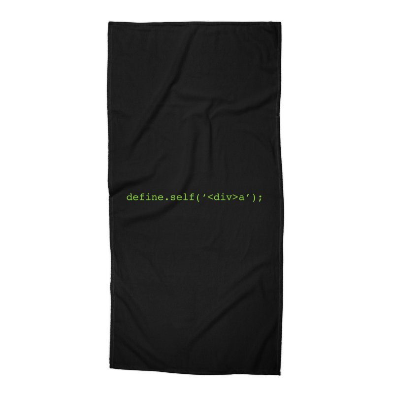 define.self('<div>a'); - A geeky diva Accessories Beach Towel by Women in Technology Online Store