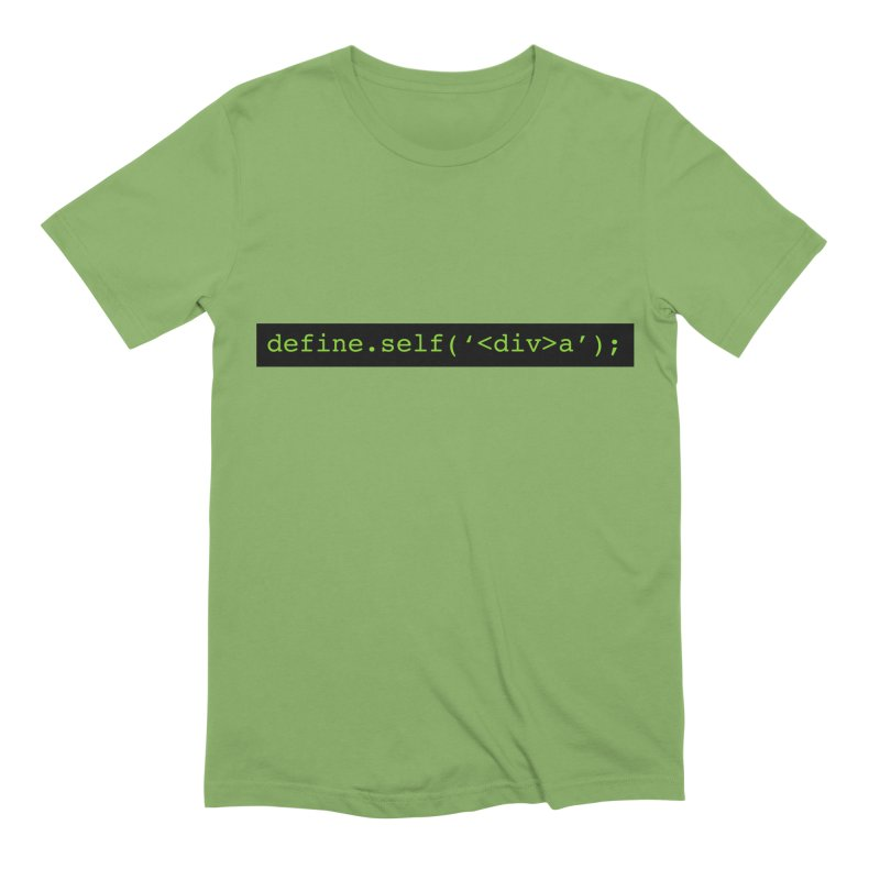 define.self('<div>a'); - A geeky diva Men's Extra Soft T-Shirt by Women in Technology Online Store