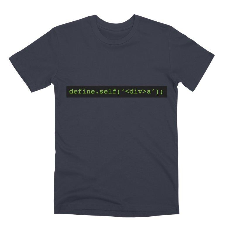 define.self('<div>a'); - A geeky diva Men's Premium T-Shirt by Women in Technology Online Store