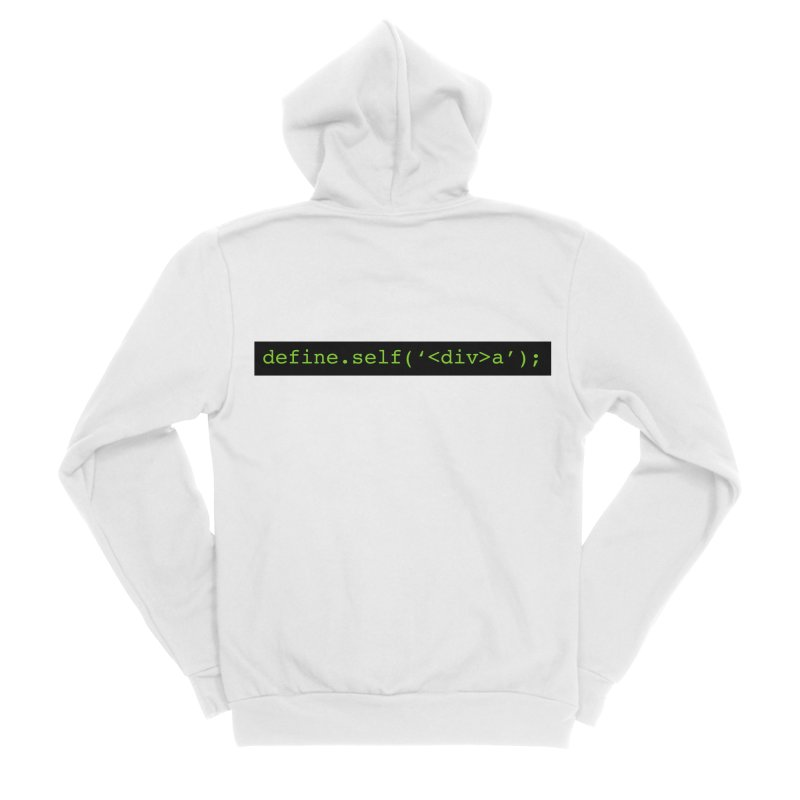 define.self('<div>a'); - A geeky diva Men's Sponge Fleece Zip-Up Hoody by Women in Technology Online Store