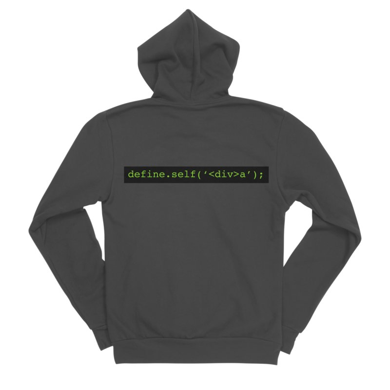 define.self('<div>a'); - A geeky diva Men's Sponge Fleece Zip-Up Hoody by Women in Technology Online Store