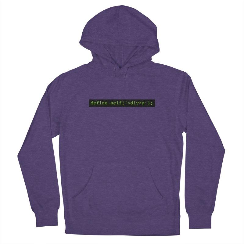 define.self('<div>a'); - A geeky diva Women's Pullover Hoody by Women in Technology Online Store