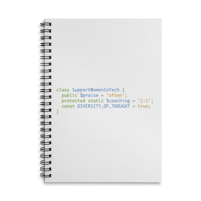 Support Women In Tech Accessories Lined Spiral Notebook by Women in Technology Online Store