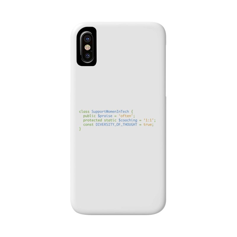 Support Women In Tech Accessories Phone Case by Women in Technology Online Store