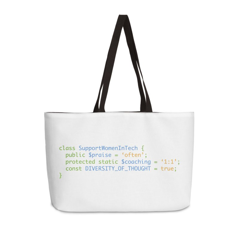 Support Women In Tech Accessories Weekender Bag Bag by Women in Technology Online Store