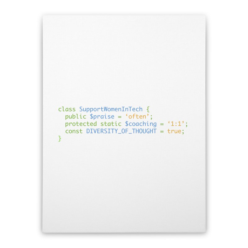 Support Women In Tech Home Stretched Canvas by Women in Technology Online Store