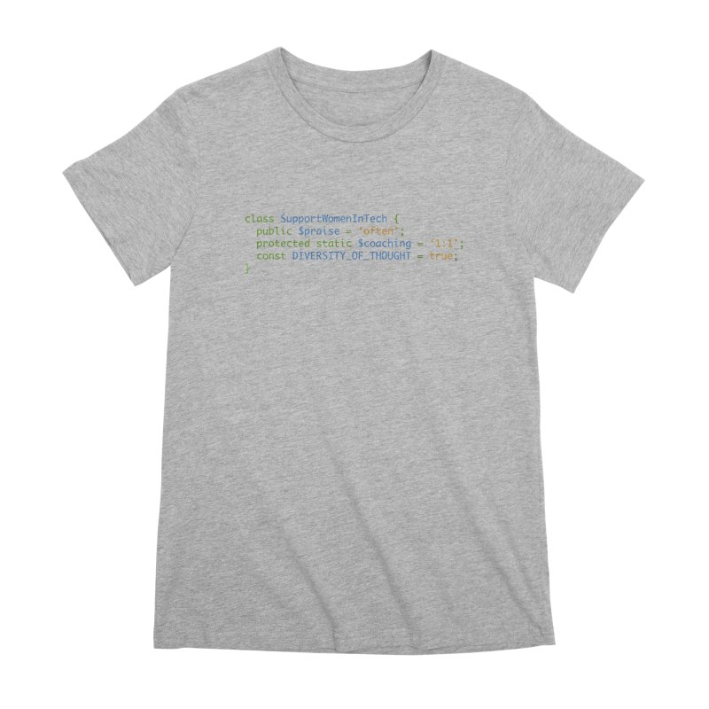 Support Women In Tech Women's Premium T-Shirt by Women in Technology Online Store