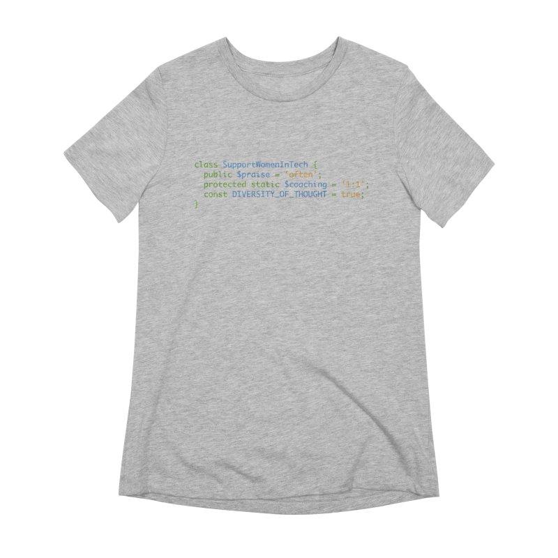 Support Women In Tech Women's Extra Soft T-Shirt by Women in Technology Online Store
