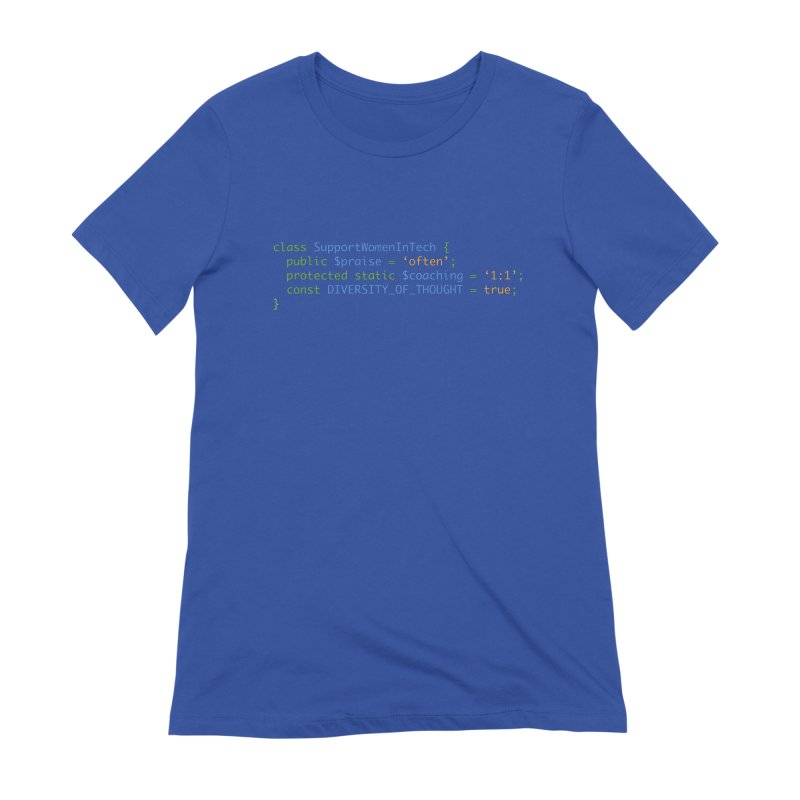 Support Women In Tech Women's Extra Soft T-Shirt by Women in Technology Online Store