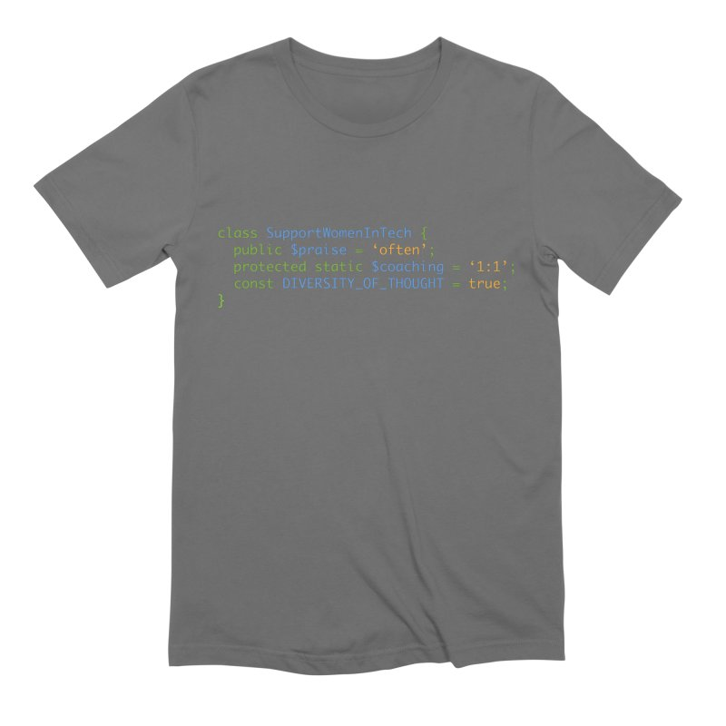 Support Women In Tech Men's T-Shirt by Women in Technology Online Store