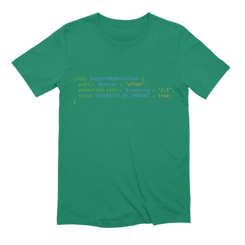 Support Women In Tech Men's Extra Soft T-Shirt by Women in Technology Online Store