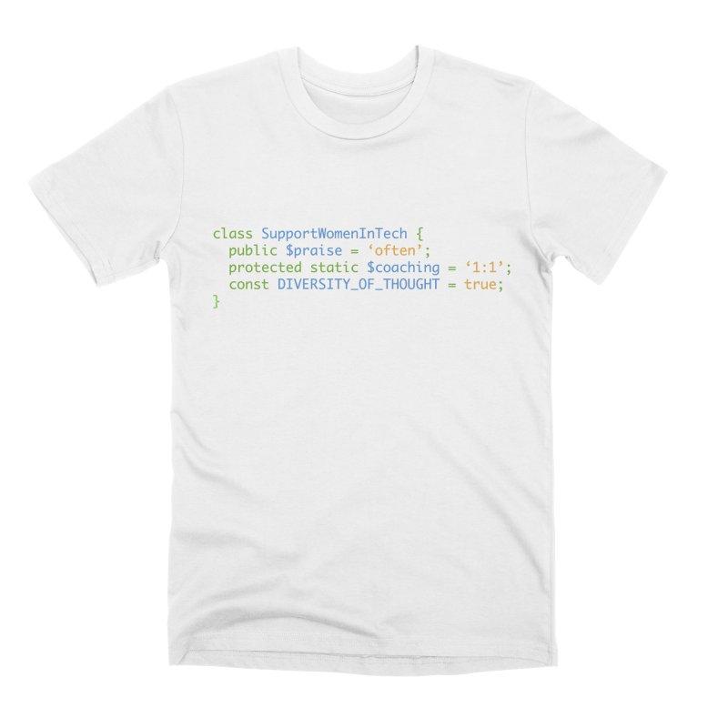 Support Women In Tech Men's Premium T-Shirt by Women in Technology Online Store