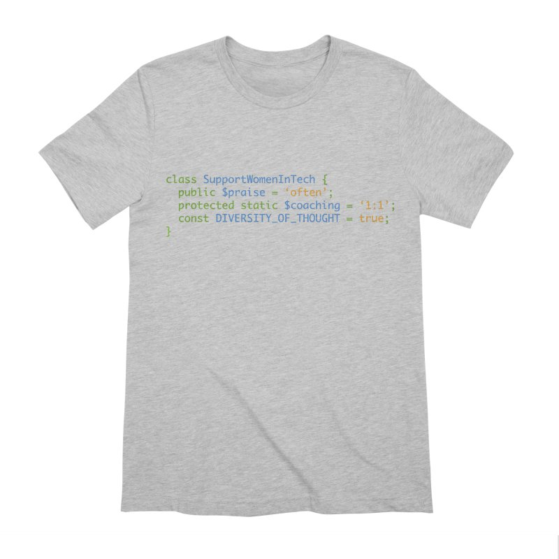Support Women In Tech Men's Extra Soft T-Shirt by Women in Technology Online Store