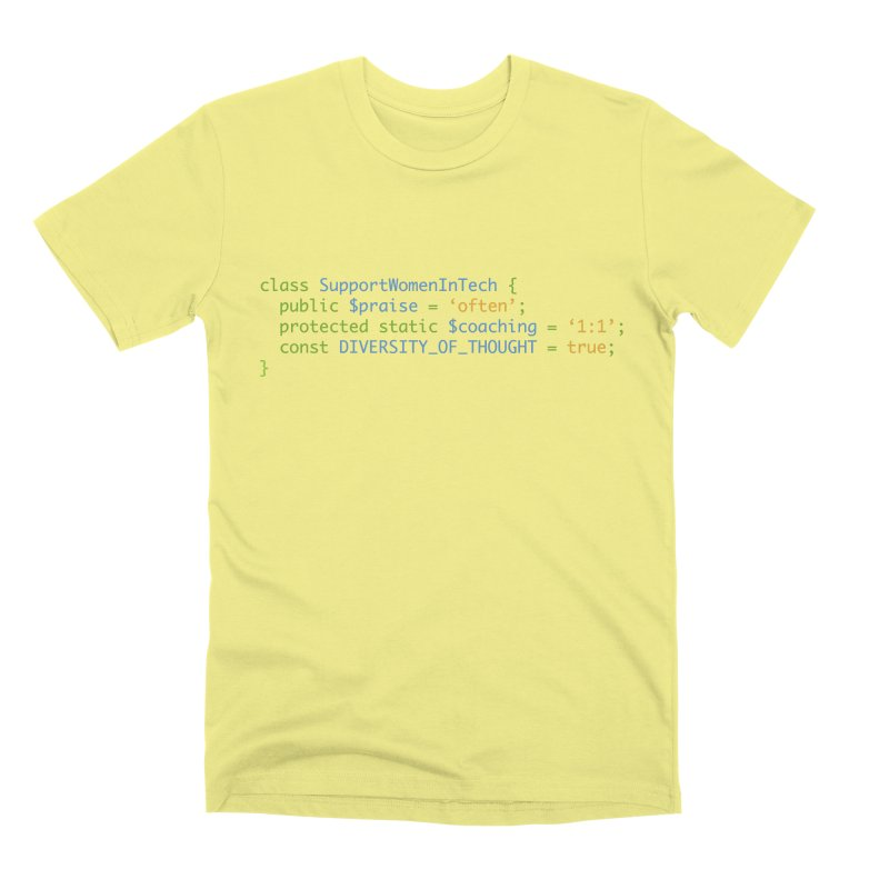 Support Women In Tech Men's Premium T-Shirt by Women in Technology Online Store