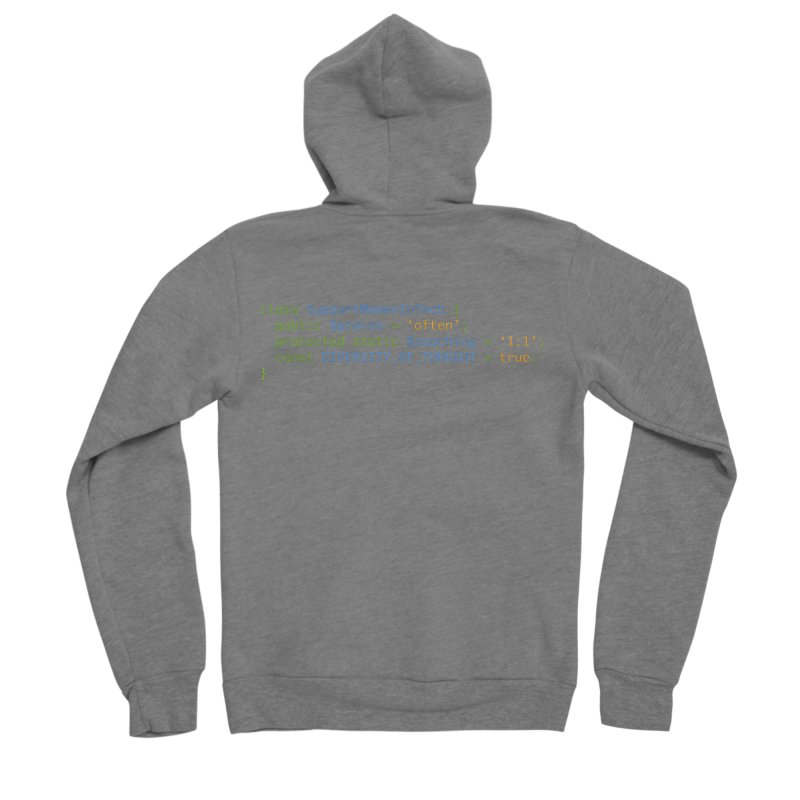 Support Women In Tech Men's Sponge Fleece Zip-Up Hoody by Women in Technology Online Store