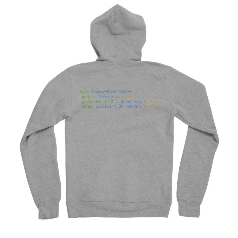Support Women In Tech Men's Sponge Fleece Zip-Up Hoody by Women in Technology Online Store