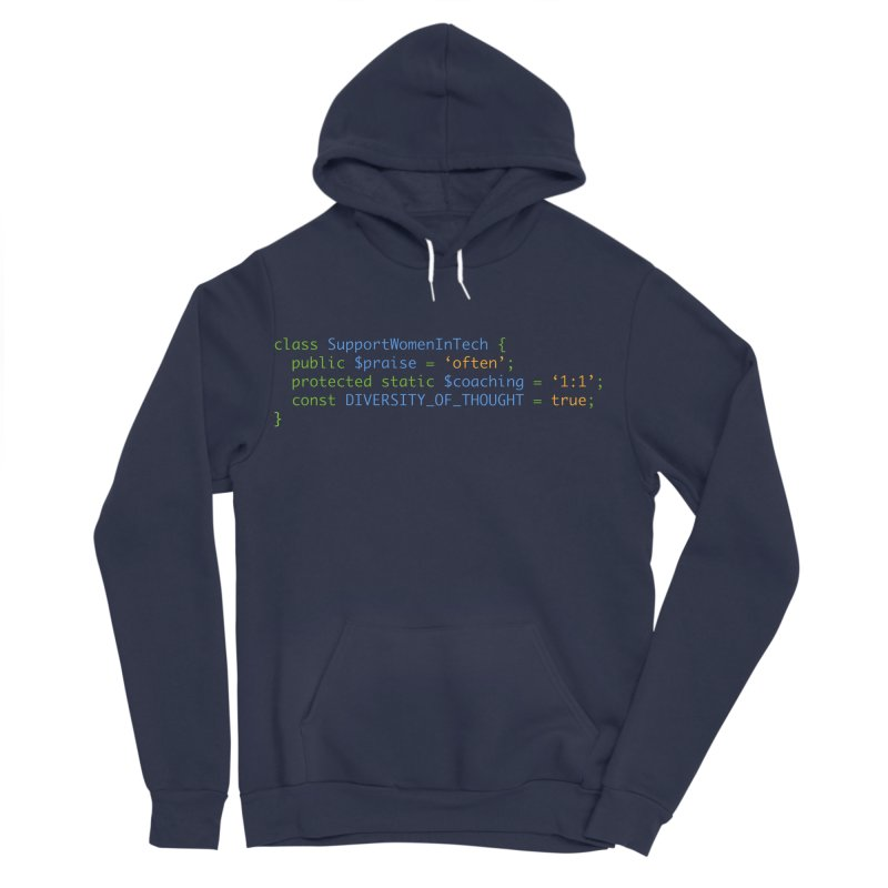 Support Women In Tech Women's Sponge Fleece Pullover Hoody by Women in Technology Online Store