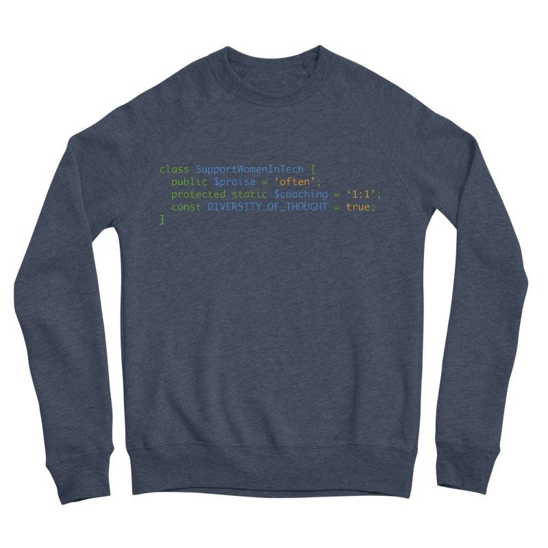 Support Women In Tech Men's Sponge Fleece Sweatshirt by Women in Technology Online Store