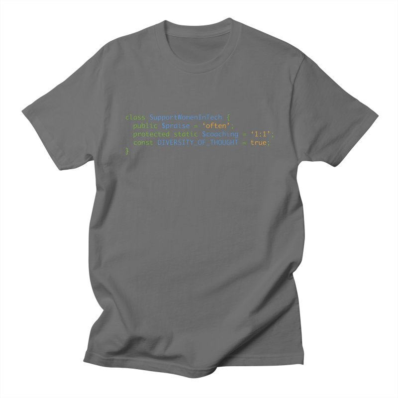 Support Women In Tech Men's T-Shirt by Women in Technology Online Store