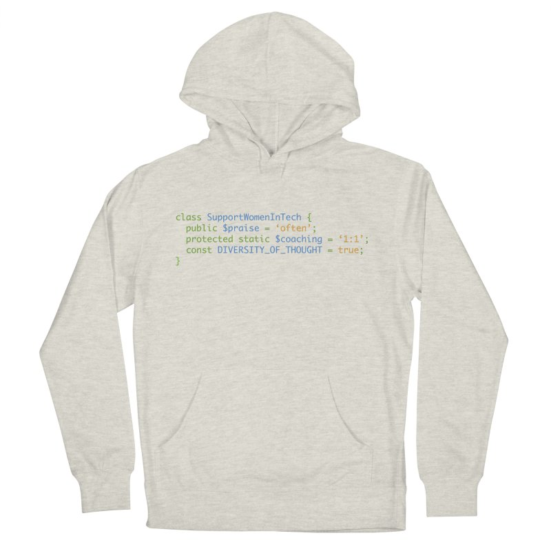 Support Women In Tech Men's French Terry Pullover Hoody by Women in Technology Online Store