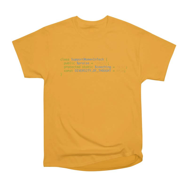 Support Women In Tech Women's Heavyweight Unisex T-Shirt by Women in Technology Online Store