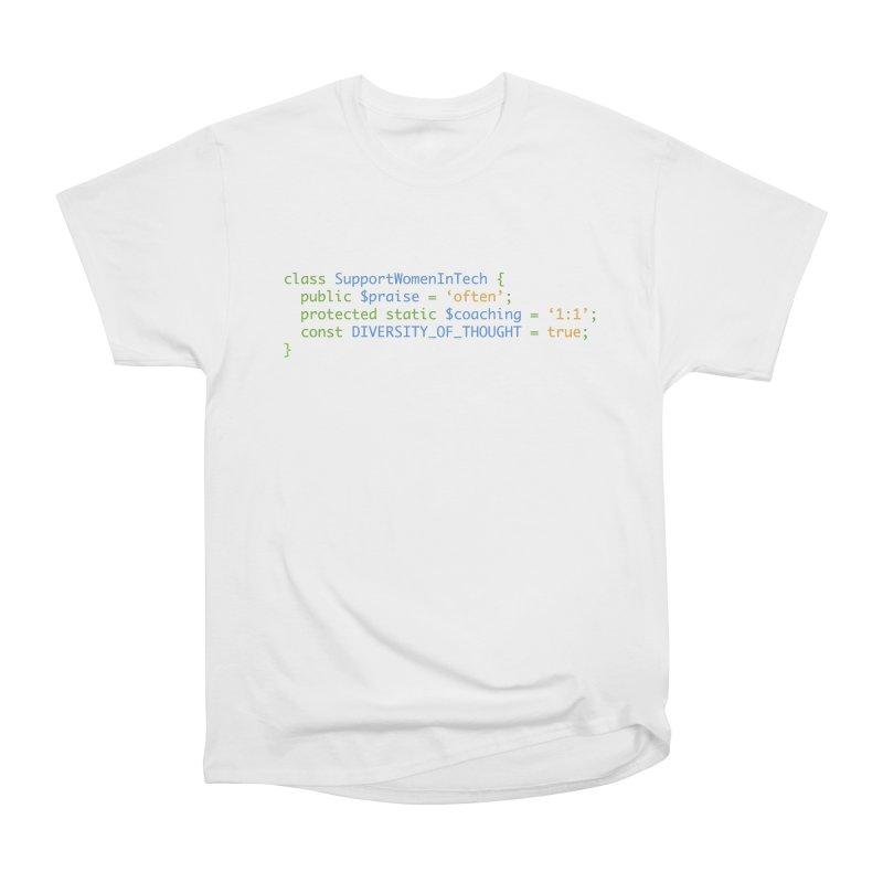Support Women In Tech Women's Heavyweight Unisex T-Shirt by Women in Technology Online Store