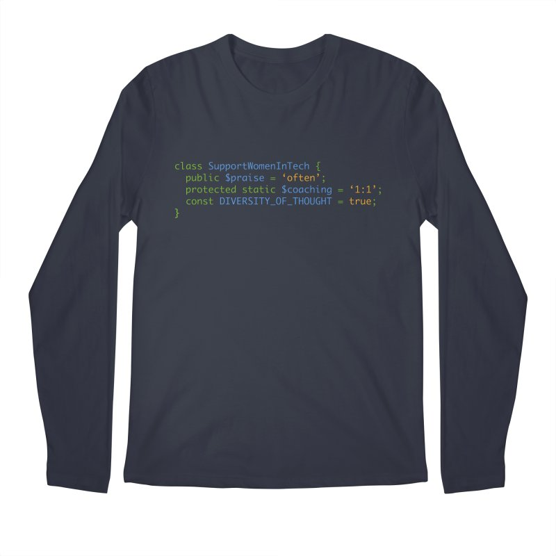 Support Women In Tech Men's Regular Longsleeve T-Shirt by Women in Technology Online Store