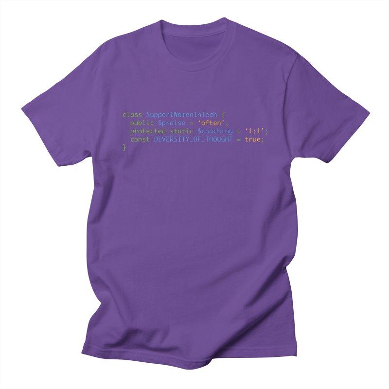 Support Women In Tech Women's Regular Unisex T-Shirt by Women in Technology Online Store