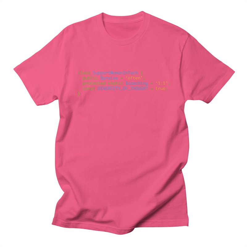 Support Women In Tech Men's Regular T-Shirt by Women in Technology Online Store