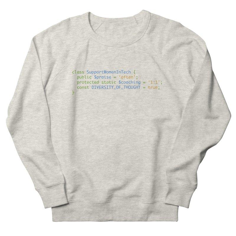 Support Women In Tech Men's French Terry Sweatshirt by Women in Technology Online Store