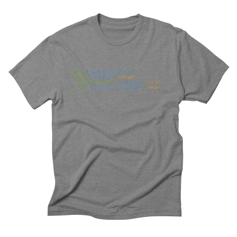 Support Women In Tech Men's Triblend T-Shirt by Women in Technology Online Store