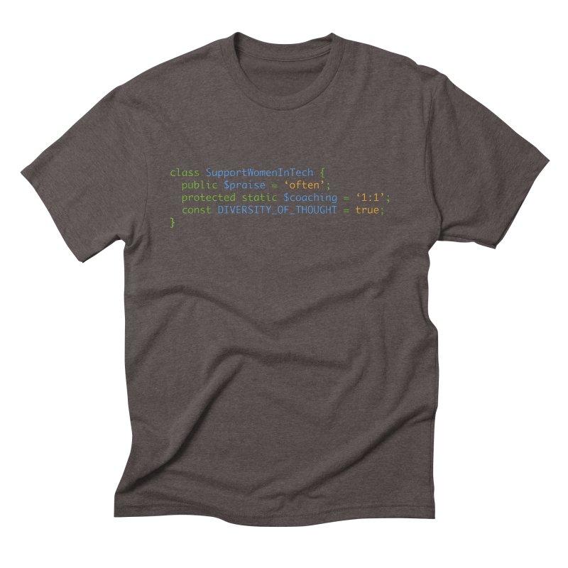 Support Women In Tech Men's Triblend T-Shirt by Women in Technology Online Store