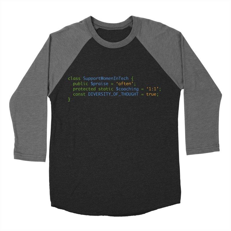 Support Women In Tech Men's Baseball Triblend Longsleeve T-Shirt by Women in Technology Online Store