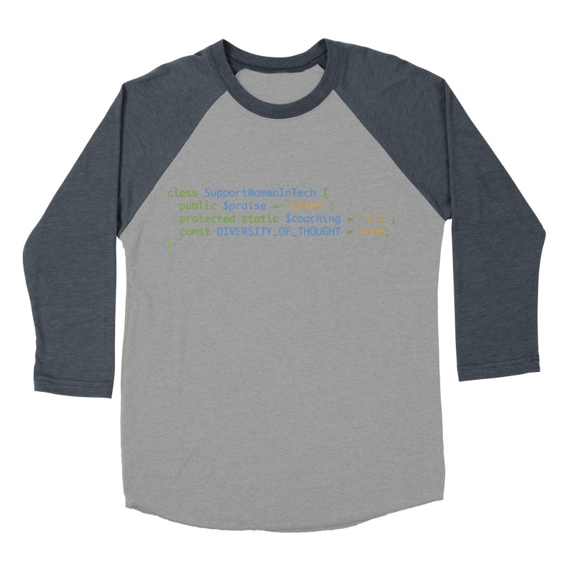 Support Women In Tech Men's Baseball Triblend Longsleeve T-Shirt by Women in Technology Online Store