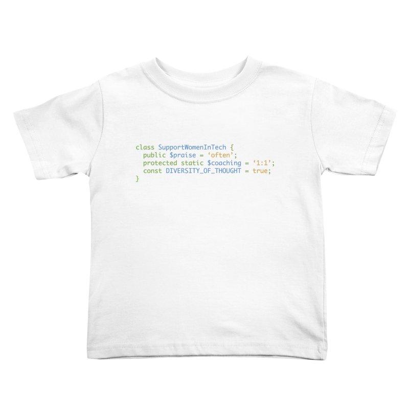 Support Women In Tech Kids Toddler T-Shirt by Women in Technology Online Store