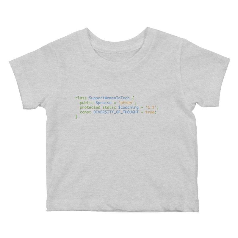 Support Women In Tech Kids Baby T-Shirt by Women in Technology Online Store