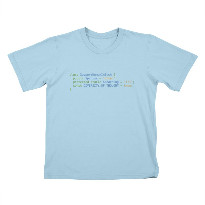 Support Women In Tech Kids T-Shirt by Women in Technology Online Store