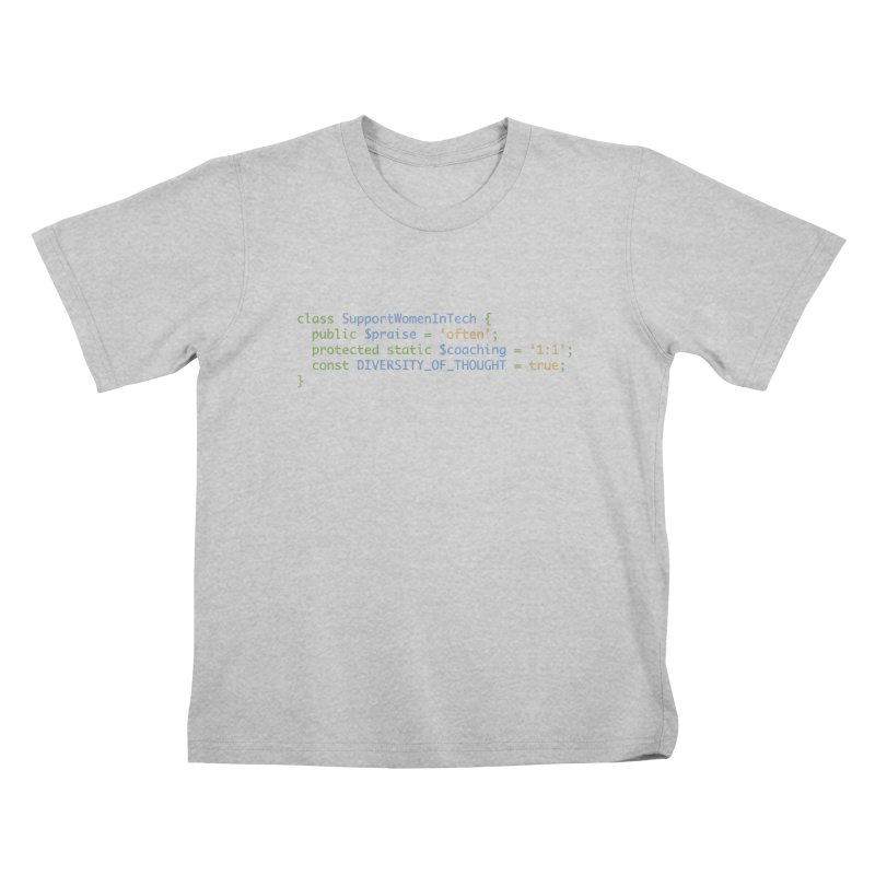 Support Women In Tech Kids T-Shirt by Women in Technology Online Store