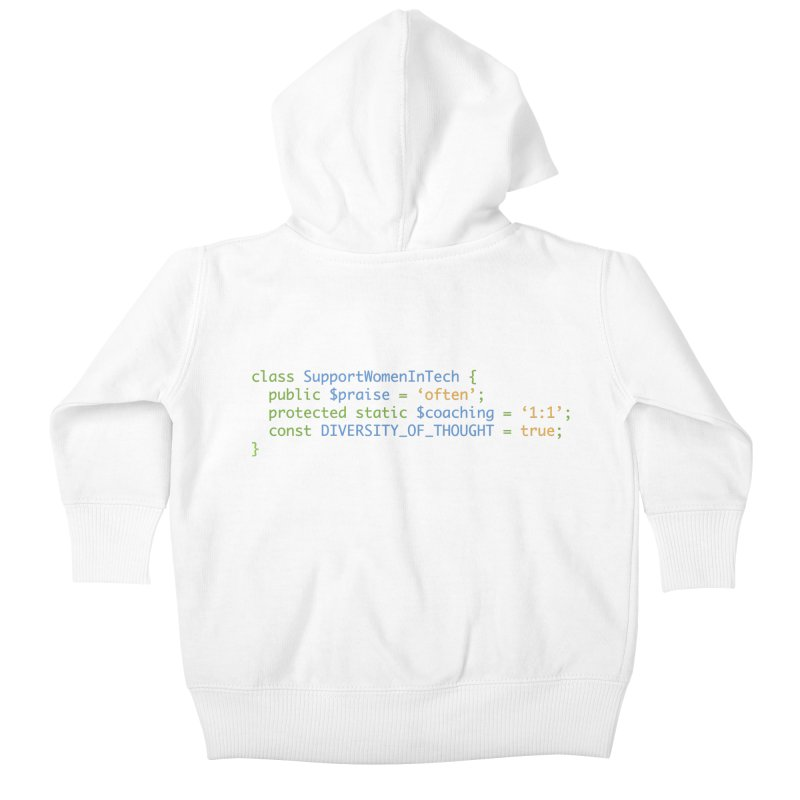 Support Women In Tech Kids Baby Zip-Up Hoody by Women in Technology Online Store