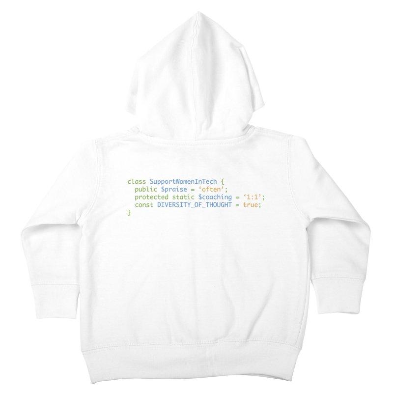 Support Women In Tech Kids Toddler Zip-Up Hoody by Women in Technology Online Store