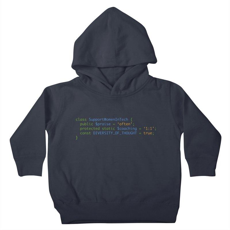 Support Women In Tech Kids Toddler Pullover Hoody by Women in Technology Online Store