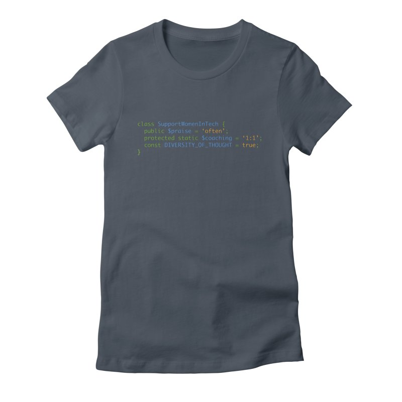 Support Women In Tech Women's T-Shirt by Women in Technology Online Store